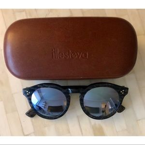 Illesteva Leonard II Custom Mirrored Sunglasses